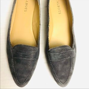 Talbots Gray suede loafer flats size 9 1/2